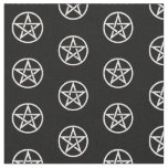 Black and White Pentacle Altar Cloth Material