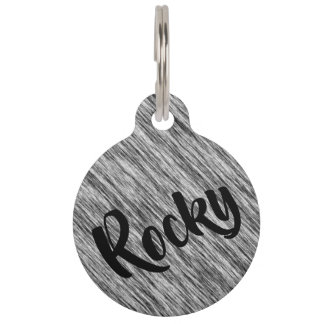 Black-and-white Pet ID Tag