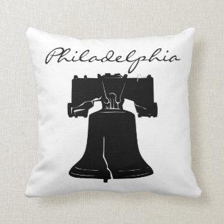 Black and White Philadelphia Landmark Throw Pillow
