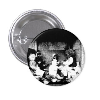 Black and white photo 1 inch round button