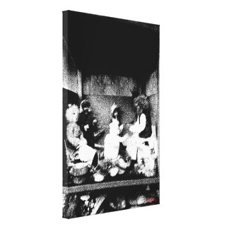 Black and white photo stretched canvas print