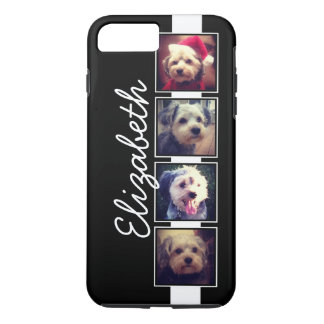 Black and White Photo Collage Squares Personalized iPhone 7 Plus Case