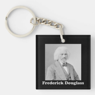 Black and White Photo of Frederick Douglass Keychain