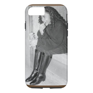 Black and White Photo of Girl iPhone Case
