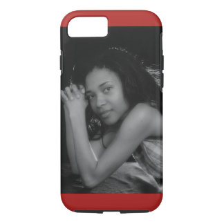 Black and White Photo of Model iPhone Case