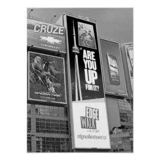 Black And White Photo Toronto Canada Poster