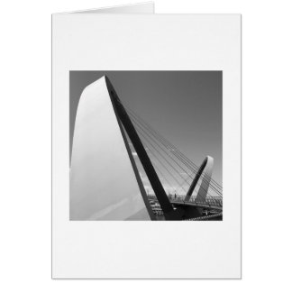 Black and white photograph of bridge card