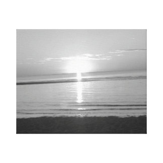 Black and White Photography Beach Canvas