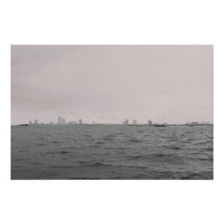 Black and white photography. Modern print. Water Poster
