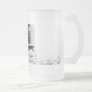 black and white photography, nature, still life frosted glass beer mug