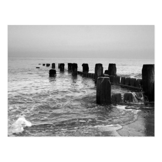 "Black and white photography – ""Seaside breakers"" Postcard"