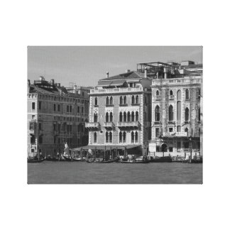 Black and White Photography Venice Italy Canvas Print