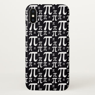 Black and White Pi Pattern iPhone X Case