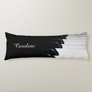 Black and White Piano Body Pillow