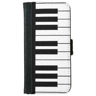 Black and White Piano Keyboard iPhone 6 Wallet Case
