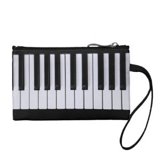 Black and White Piano Keys Clutch Coin Purse