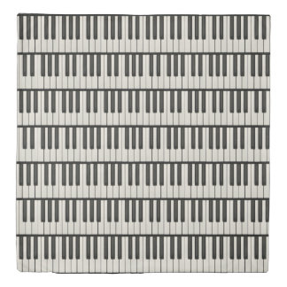 Black and White Piano Keys Duvet Cover