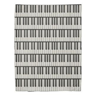 Black and White Piano Keys Duvet Cover