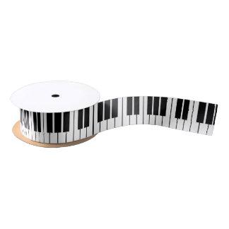 Black and white piano keys keyboard gift ribbon satin ribbon