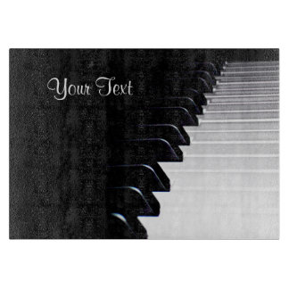 Black and White Piano Music Cutting Board