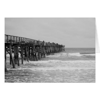 Black and White pier, Old Ocean Photo Card