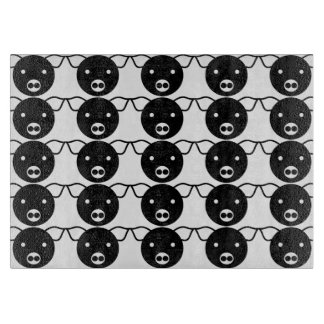 Black and White Pig Face Pattern for Pig Lovers Cutting Board