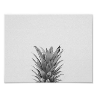 Black and White Pineapple Poster