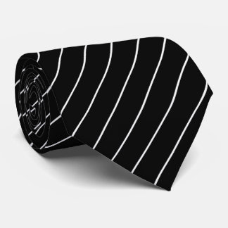 Black and White Pinstripe Tie
