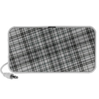 Black and White Plaid Background PC Speakers