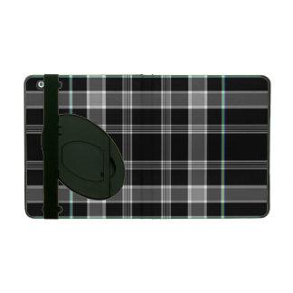 Black and White Plaid iPad Folio Case