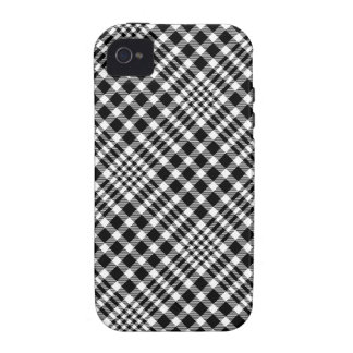 Black and White Plaid iPhone 4/4S case