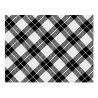 Black and White Plaid Postcard