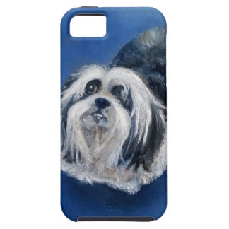 Black and White Playful Small Dog Case For The iPhone 5