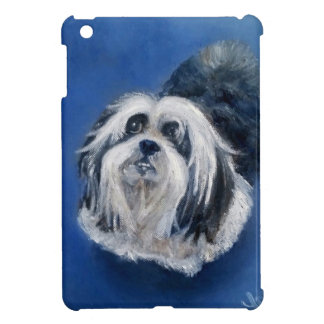 Black and White Playful Small Dog Cover For The iPad Mini