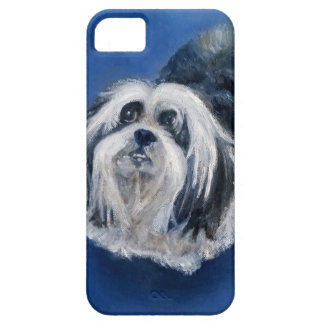 Black and White Playful Small Dog iPhone 5 Case