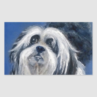 Black and White Playful Small Dog Sticker