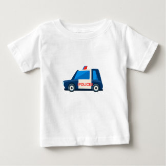 Black And White Police Toy Cute Car Icon Baby T-Shirt