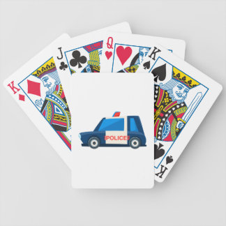 Black And White Police Toy Cute Car Icon Bicycle Playing Cards
