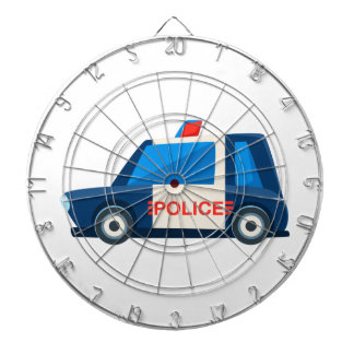 Black And White Police Toy Cute Car Icon Dartboard