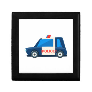 Black And White Police Toy Cute Car Icon Gift Box