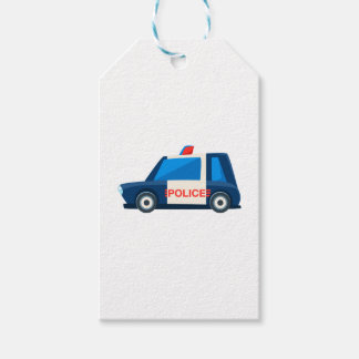 Black And White Police Toy Cute Car Icon Gift Tags