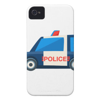 Black And White Police Toy Cute Car Icon iPhone 4 Case-Mate Cases