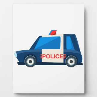 Black And White Police Toy Cute Car Icon Plaque