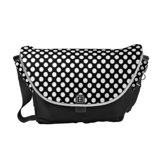 Black and White Polka Dot bag Commuter Bag
