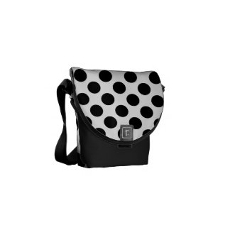 Black and White Polka Dot Commuter Bag
