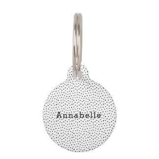 Black and White Polka Dot Dog Pet Tag Small