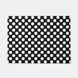 Black and White Polka Dot Doormat