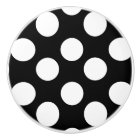 Black and White Polka Dot Furniture Knob
