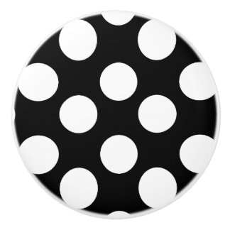 Black and White Polka Dot Furniture Knob Ceramic Knob