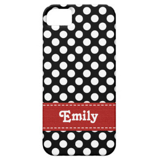 Black and White Polka Dot iPhone 5 Cover